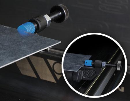 Adjustable Back Gauge on Press Brake