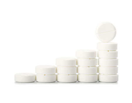 Stacked White Tablets