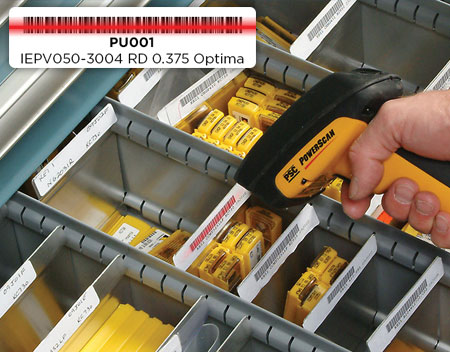 Close-up on Inventory being scanned