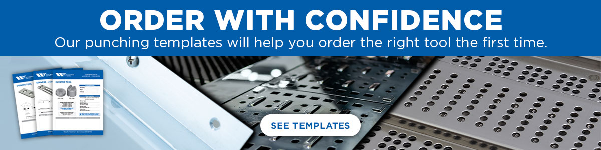 Punched Metal Samples and Ordering Templates