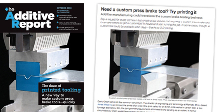 Wilson Tool Additive Press Brake Tooling Article