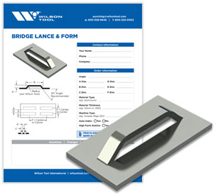 Bridge Lance & Form template and flyer