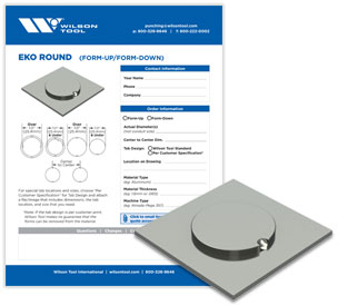 EKO round template and flyer