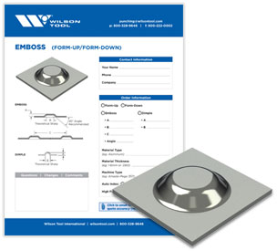 Emboss tool template and flyer