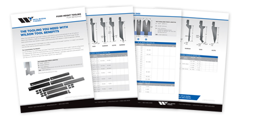 Wilson Tool Fixed Height tooling