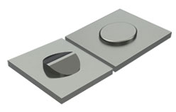 Metal Sample of Half Shear and Rooftop Shear Lance and Form