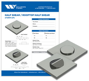 Half shear/Rooftop half shear tool template and flyer