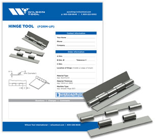 Hinge tool template and flyer