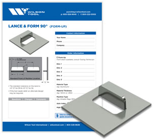 Lance & Form 90° template and flyer