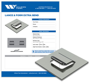 Lance & Form Extra bend template and flyer