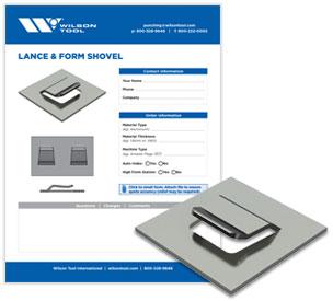 Lance & form shovel template and flyer