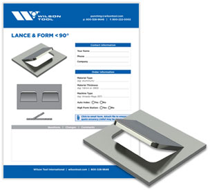 Lance & form less than 90° template and flyer