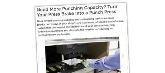 Need More Punching Capacity – Article
