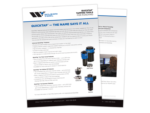 QuickTap Tapping Tool Flyer