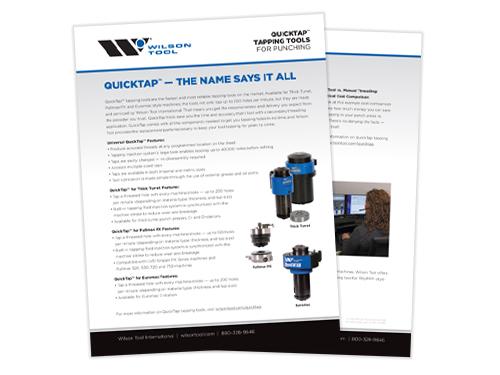 Wilson Tool QuickTap® flyer