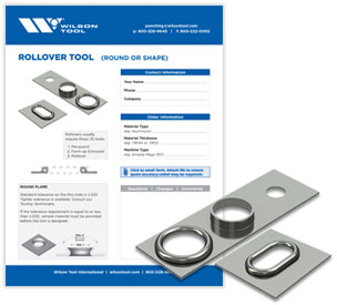 Rollover tool template and flyer