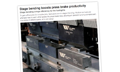 Wilson Tool Staged Bending Boosts Press Brake Productivity Article