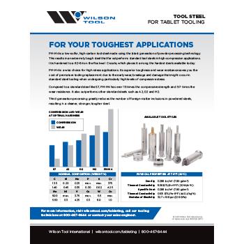 Tablet Tooling Steel Flyer
