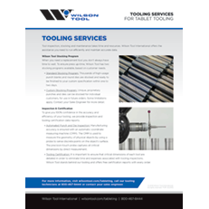 Tablet Tooling Services Flyer