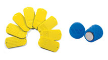 Yellow Texture Samples and Blue Magnet Grip