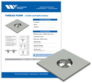 Thread form template and flyer