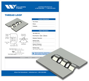 Thread loop template and flyer