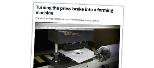 Turning the Press Brake into a Forming Machine – Article