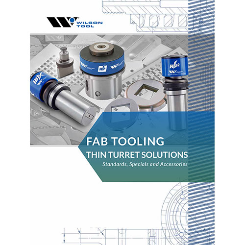 Fab Tooling Thin Turret Solutions Catalog