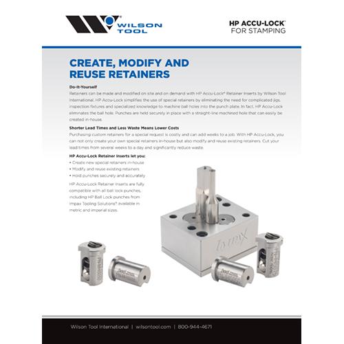 HP Accu-Lock® Retainer Inserts Flyer