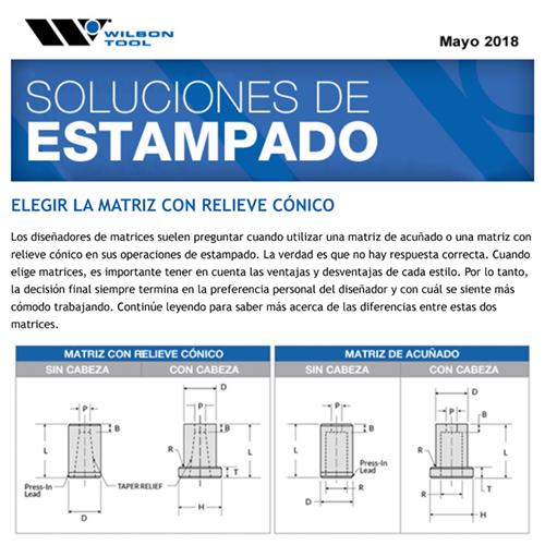 Soluciones de Estampado – Mayo 2018