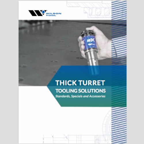Thick Turret Tooling Solutions Catalog