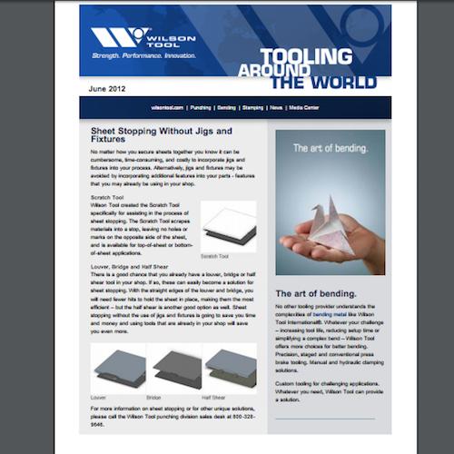 Tooling Around the World e-Newsletter - June 2012