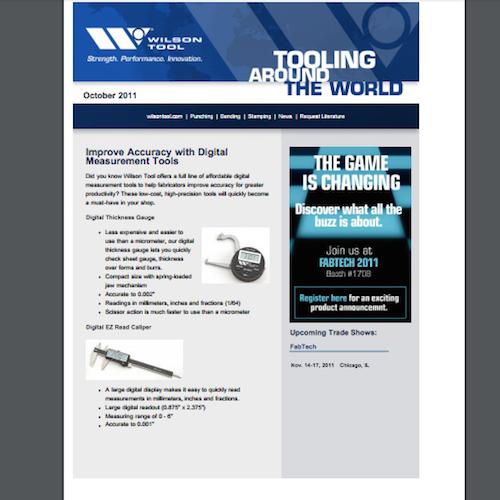 Tooling Around the World e-Newsletter - October 2011