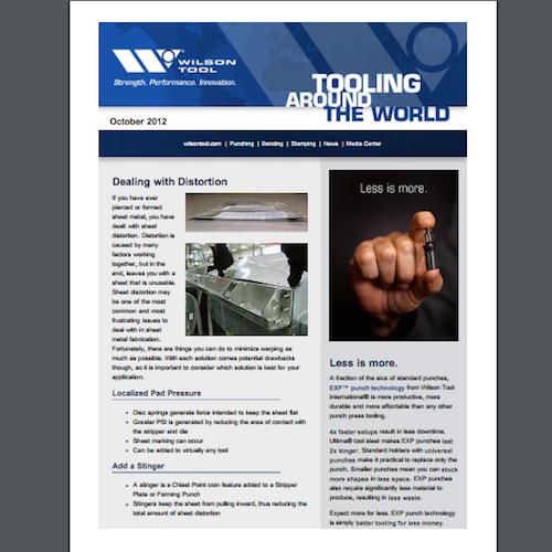 Tooling Around the World e-Newsletter - October 2012