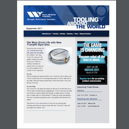 Tooling Around the World e-Newsletter - September 2011