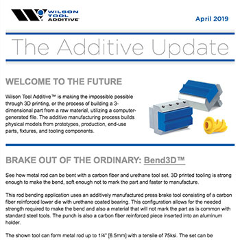 The Additive Update April 2019
