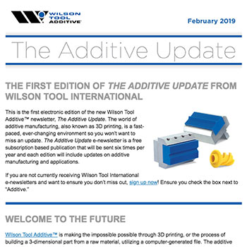 The Additive Update February 2019