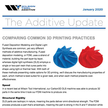 The Additive Update January 2020