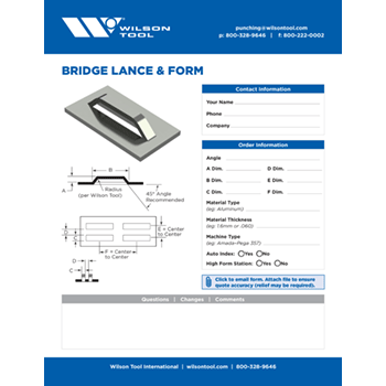 Bridge Lance and Form Template