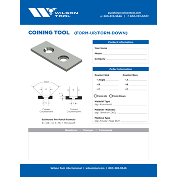 Coining Tool Template