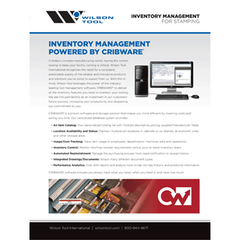 Cribware Inventory Management Flyer Preview