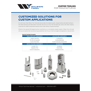Custom tooling for Manufacturing Flyer