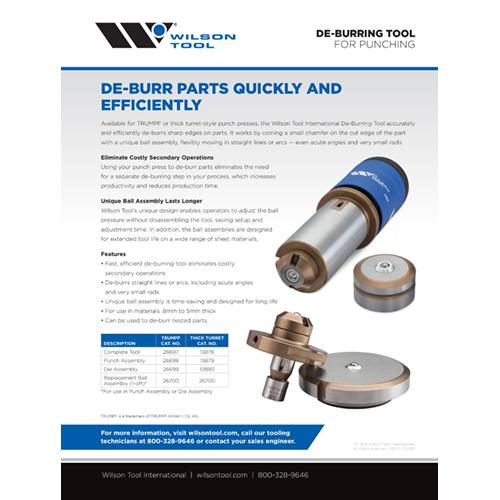De-Burring Tool Flyer