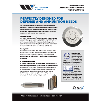 Defense and Ammunition Tooling Flyer