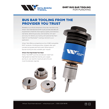 EHRT Bus Bar Tooling Flyer