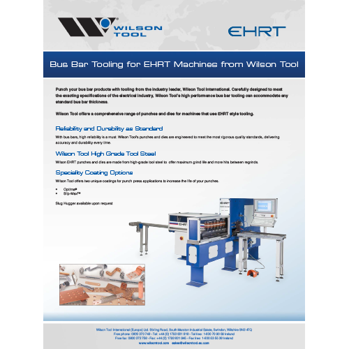 Bus Bar Tooling Flyer