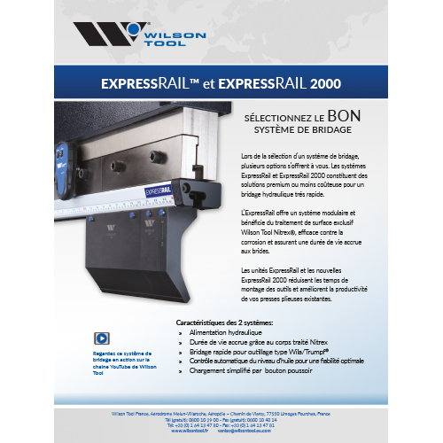 Flyer Express Rail® le système de bridage