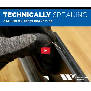 Galling on Press Brake Dies | Bending | Technically Speaking