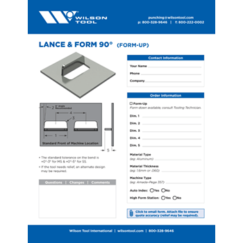Lance & Form 90° Template