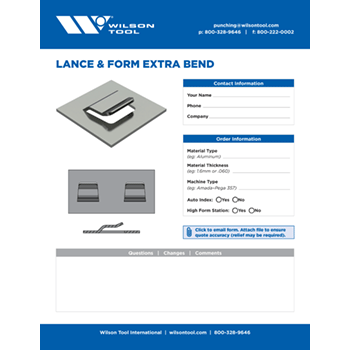 Lance & Form Extra Bend Template
